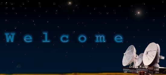 Space Background with Welcome